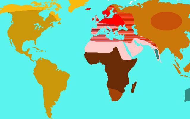 Penyebaran Ras Mongoloid di Dunia