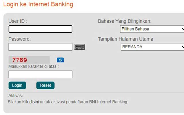 3. Cara Bayar UKT UPI Lewat Internet Banking BNI