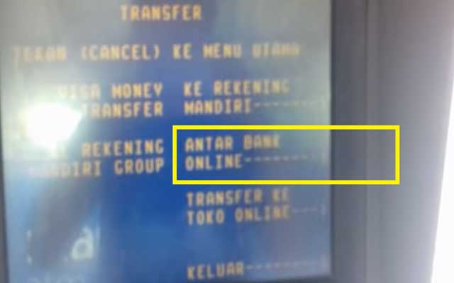 Transfer Mandiri ke Sesama Bank
