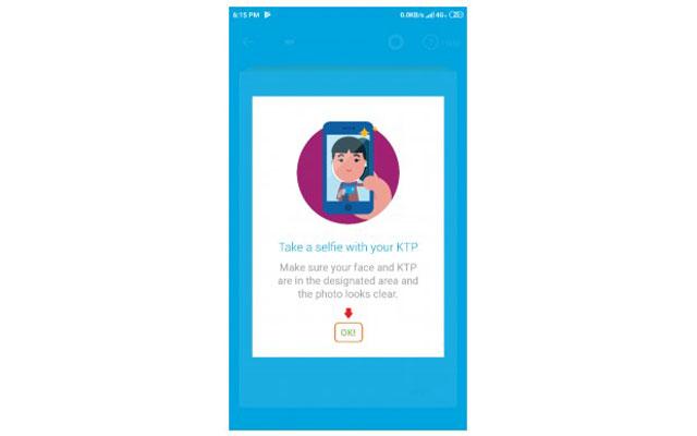 11. Selesai mengambil foto KTP silahkan klik Selfie dengan KTP Kamu untuk melanjutkan pendaftaran.