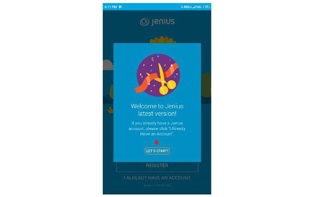 3. Setelah terpasang di smartphone anda silahkan buka aplikasi Jenius anda.