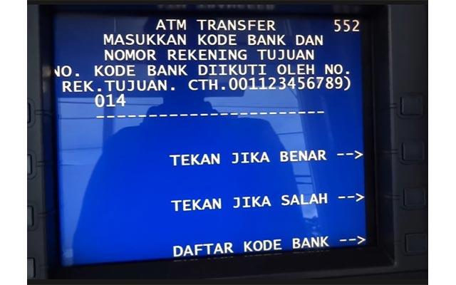 Masukkan Kode Bank dan No. Rekening