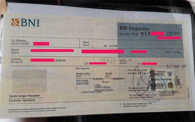 Syarat Buka Deposito BNI