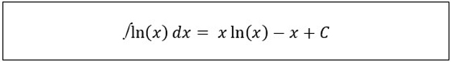 integral logaritma berbasis e