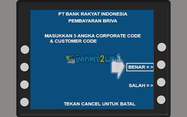 Input Kode Bank No. Virtual Account BNI