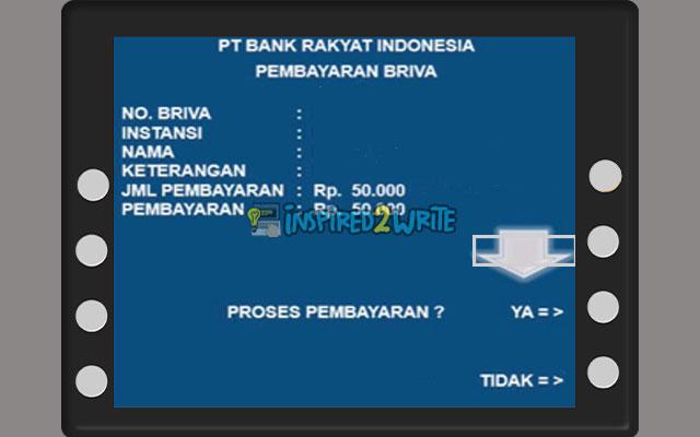 Konfirmasi Pembayaran ATM