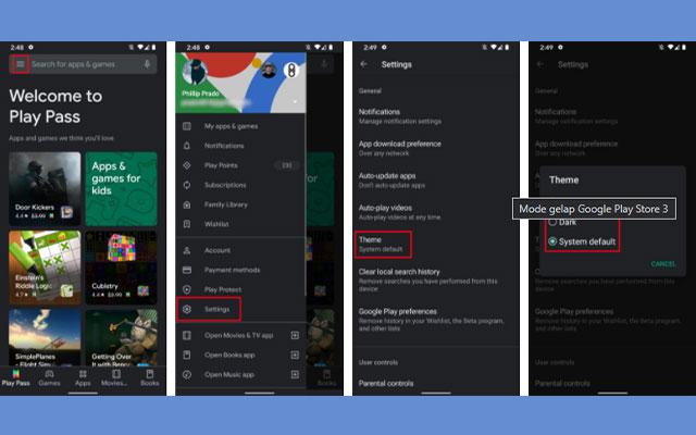 Dark Mode Google Play