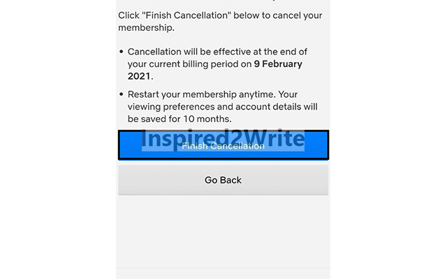 Finish Cancellation