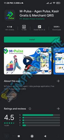 Install Aplikasi M Pulsa