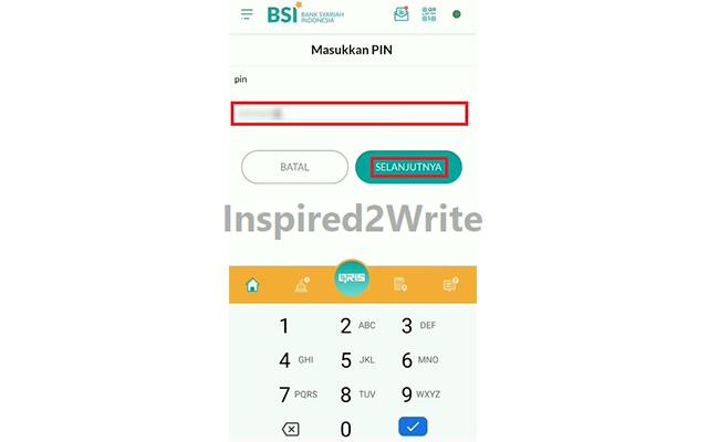 Ketik PIN BSI Mobile