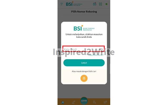 Masukkan Password BSI Mobile