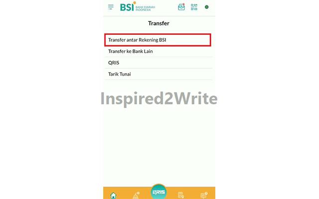Transfer Antar Rekening BSI