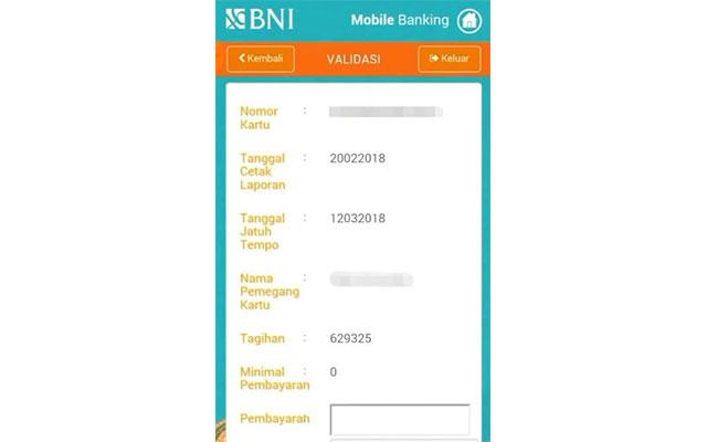 Cek Tagihan Lewat Mobile Banking