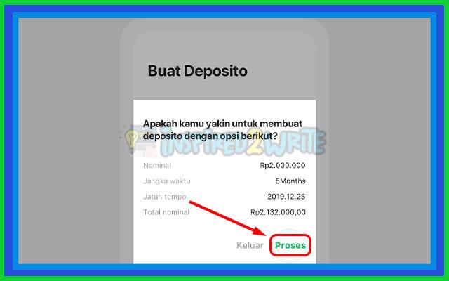 4. Konfirmasi Pembukaan Deposito