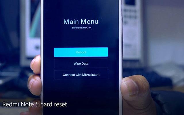 5. Wipe Data HP Xiaomi
