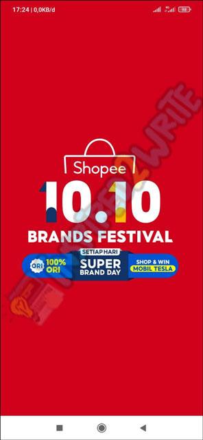 1. Buka Aplikasi Shopee