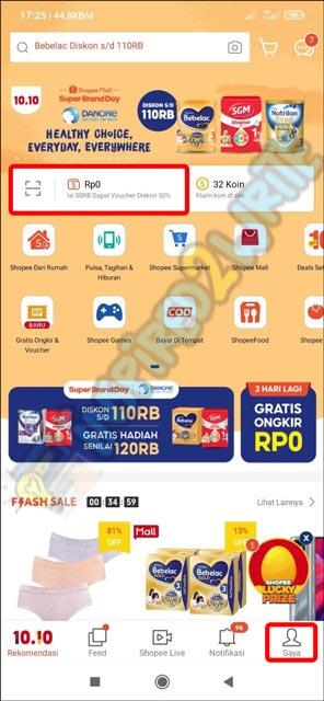 2. Pilih ShopeePay