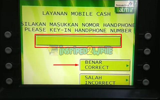 10. Input Nomor HP Permata Mobile X