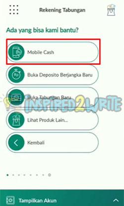 3. Pilih Menu Mobile Cash