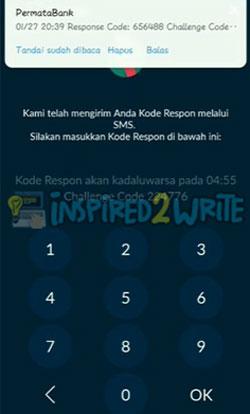 7. Masukkan Kode Respon