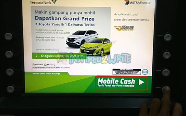 9. Pilih Mobile Cash di Mesin ATM